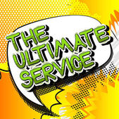 The Ultimate Service - Comic book style word