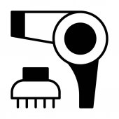 Vector illustration design of Hairdryer icon isolated on white background