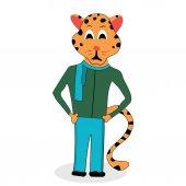 Jaguar character design Black jaguar and jaguar animal vector jaguar isolated illustration