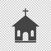 Line church sanctuary vector illustration icon Simple flat pictogram for business marketing mobile app internet on isolated background