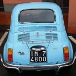 Постер, плакат: Vintage Blue Fiat 500 L