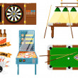 Постер, плакат: Active leisure and sports game set