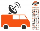 Radio Control Car pictograph with bonus calendar and time management clip art Vector illustration style is flat iconic symbols orange and gray colors white background