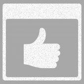 Hüvelykujj-Up naptár oldal szemcsés textúra ikon
