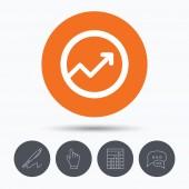 Grafik-Symbol. Geschäftsanalysen chart-Zeichen
