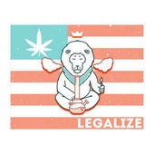 Vector poster just legalize series Animals smoke marijuana Good for design of postcards printed materials maybe it s logo for your own label Hope you Enjoy it
