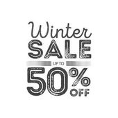 Winter sale poster design template Creative business promotional vector