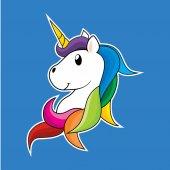 Unicorn Cartoon Vector Character
