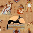 Постер, плакат: Ancient Egypt seamless pattern Grunge Egypt background