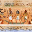 Постер, плакат: Ancient Egypt scene mythology Egyptian gods and pharaohs
