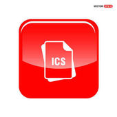 ICS file format icon vector file extension icon file type icon