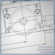 Постер, плакат: Mechanical engineering drawing
