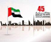 United Arab Emirates ( UAE ) National Day Logo with an inscription in Arabic translation