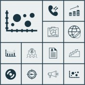 Set Of 12 Universal Editable Icons Can Be Used For Web Mobile And App Design Includes Icons Such As Comparison Segmented Bar Graph Female Application And More