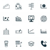 Set Of 16 Universal Editable Icons Can Be Used For Web Mobile And App Design Includes Icons Such As Growth Bank Payment Opportunity And More