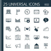 Set Of 25 Universal Editable Icons Can Be Used For Web Mobile And App Design Includes Icons Such As Security Discussion Achievement Graph And More