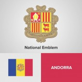 National Coat of arms and Emblem + flag vector file