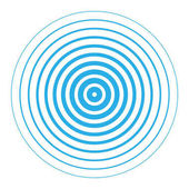 Vector illustration of blue rings sound wave Radar screen concentric circles elements Line in a circle concept Radio station signal Tap symbol Radio signal background