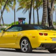 Постер, плакат: Yellow high tech Chevrolet Camaro SS convertible