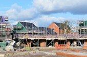 Práce na staveništi v obci Wiltshire