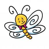 Carattere di immagine di farfalla insetto del fumetto illustrazione isolato
