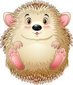 Vector illustration of Cute baby hedgehog
