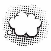 Vintage Pop Art Comics Speech Bubbles Vector Black and White Thinking Illustration Icon