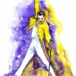 Постер, плакат: Freddie Mercury on stage