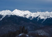 Snowy mountains in Sochi