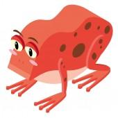 3D design pro červená žába