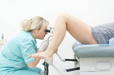Female Gynecologist During Examination