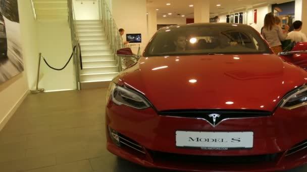 NUREMBERG, GERMANY August 14, 2017: Tesla show room