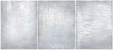Set worn metal plate steel background. Texture silver foil.