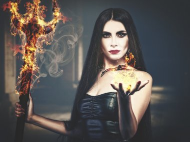 spooky female portrait