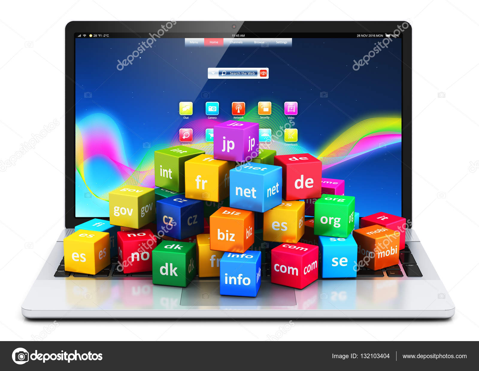 Internet and domain names concept — Stock Photo © scanrail
