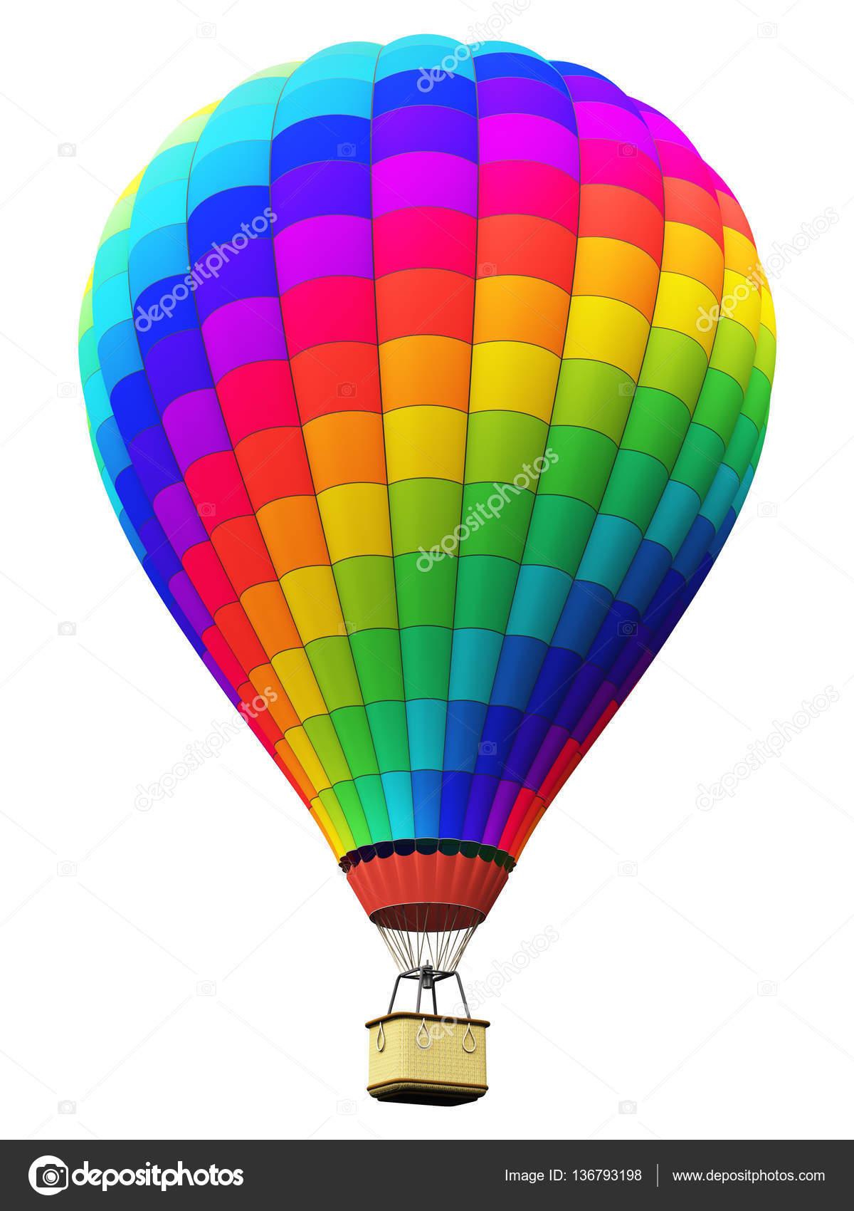 Adesivos De Caminhao Qualificados ~ Bal u00e3o de ar quente de arcoíris cor isolado no fundo branco u2014 Fotografias de Stock u00a9 scanrail