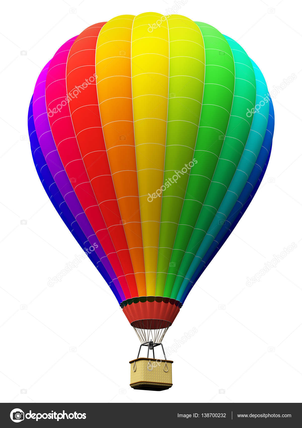 farbe regenbogen hei luftballon isoliert auf wei em hintergrund stockfoto scanrail 138700232. Black Bedroom Furniture Sets. Home Design Ideas