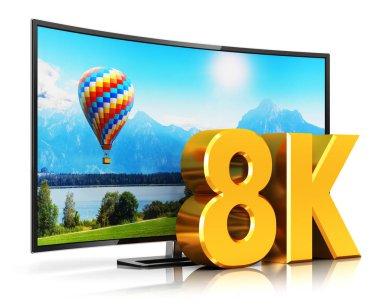 8K UltraHD curved TV