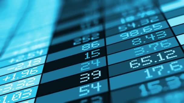 Burze trhu obchodní údaje