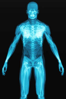X-ray scan of the human body