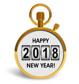 Concetto di festa del nuovo anno 2018