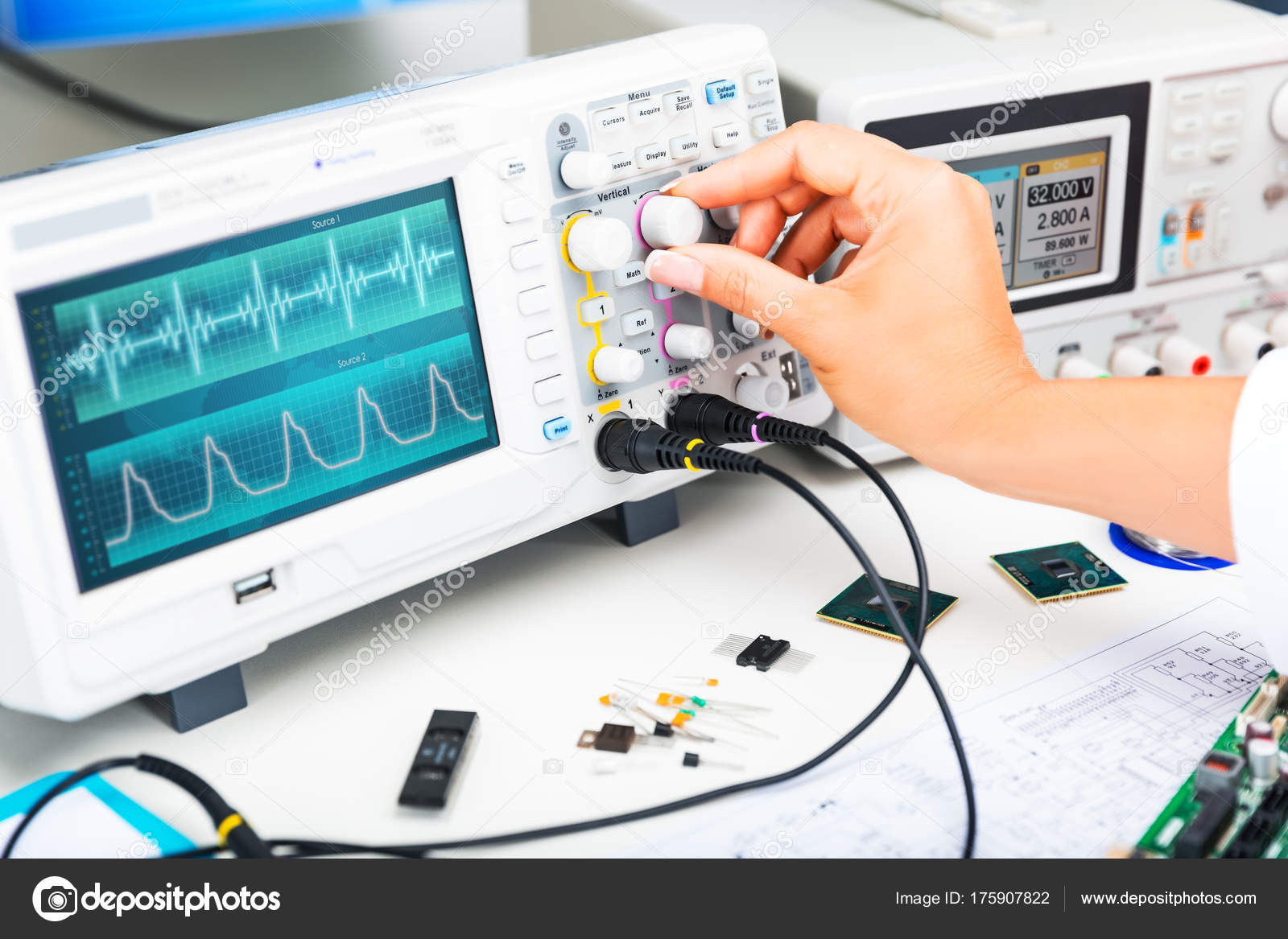 Oscilloscope is used by and electronic engineer in