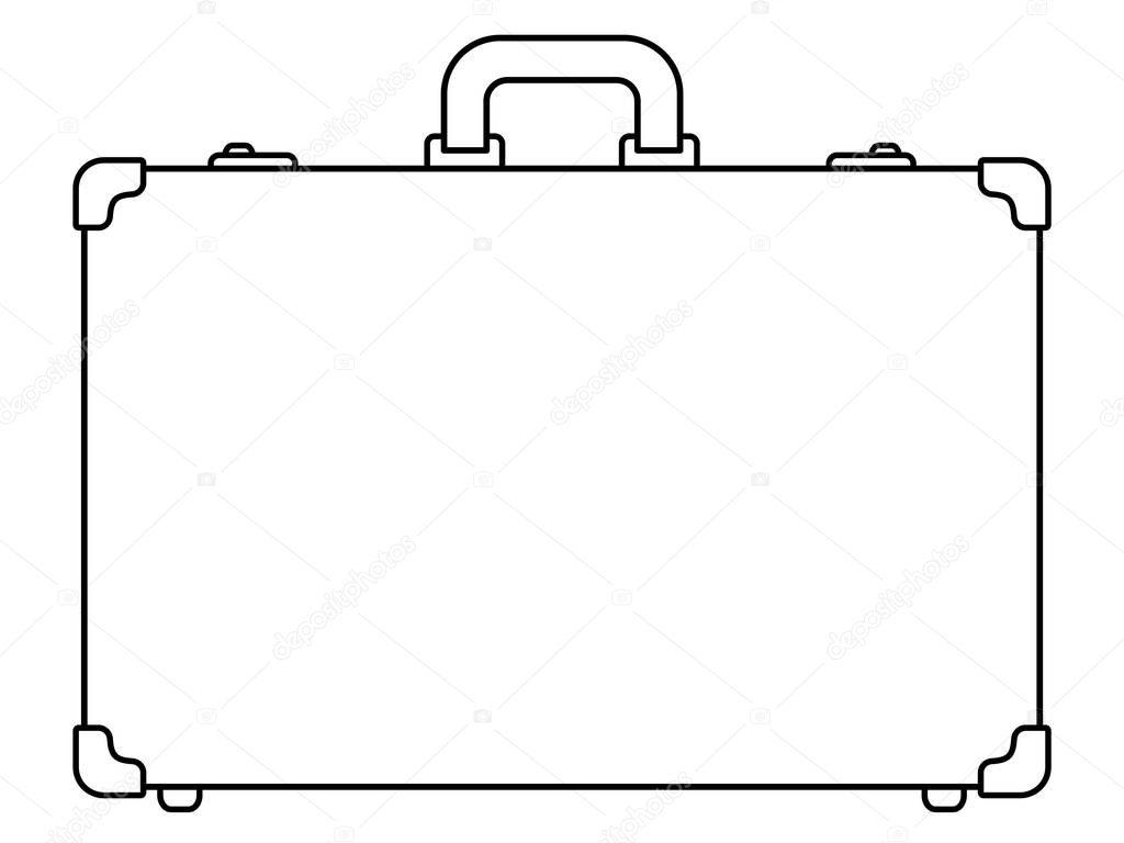koffer kontur symbol stockvektor 169 alexanderzam 165641656