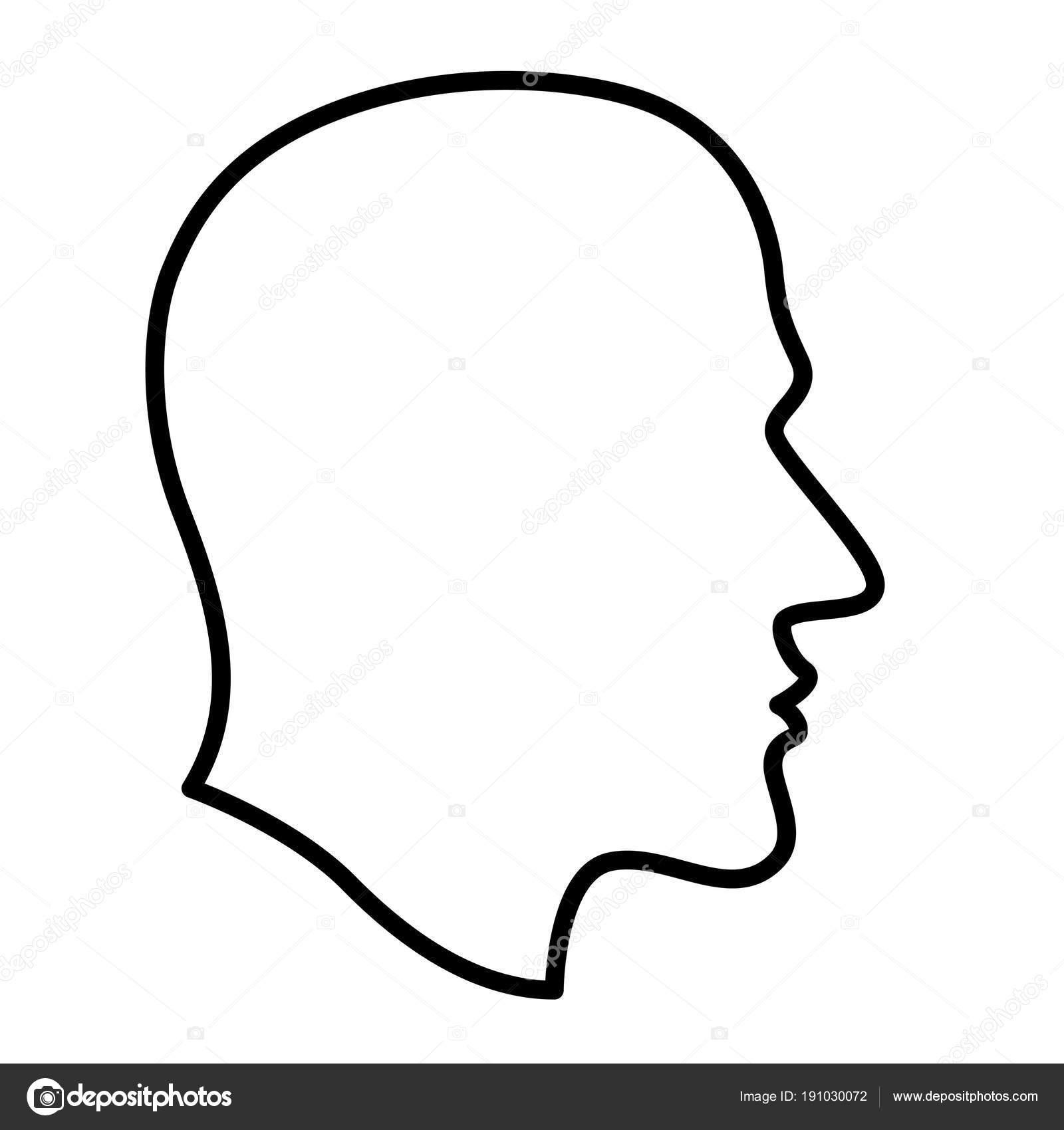 menselijk hoofd contour illustratie stockvector