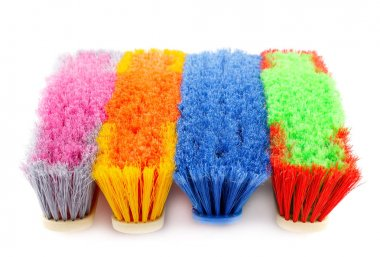 Colorful brooms picture