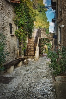 Narrow street in France