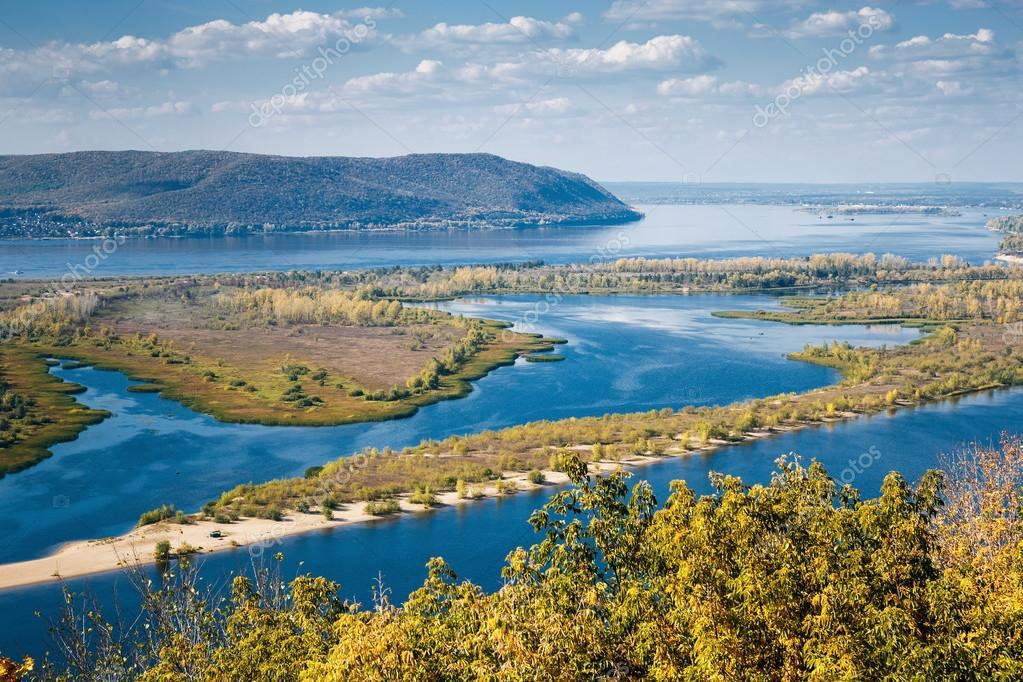 View on the valley of Volga river