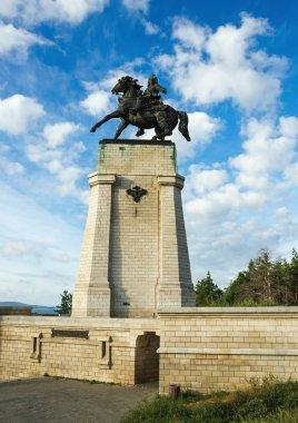 Monument of Tatishchev in the daytime