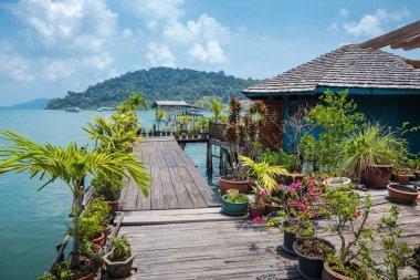Houses on tropical island