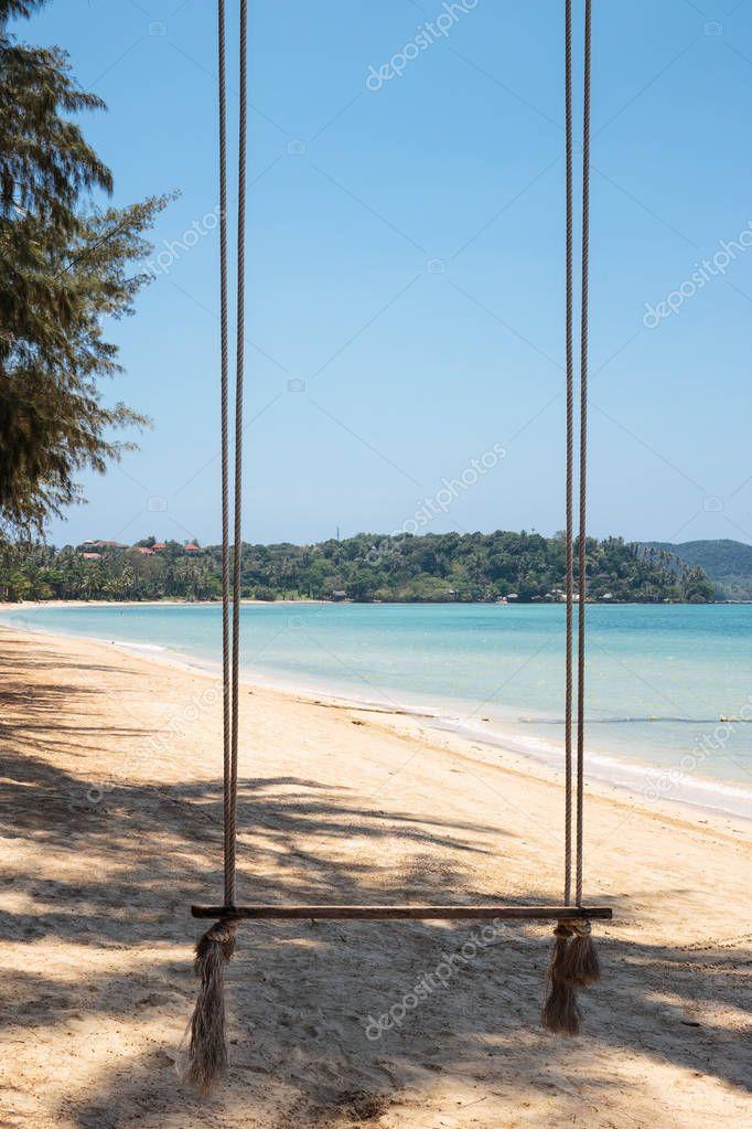 Seesaw on the tropical beach